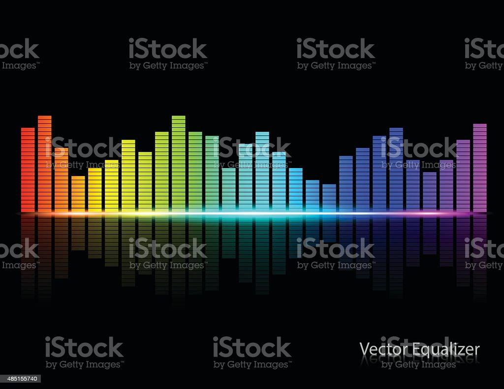 Color Music Equalizer,Vector illustration. vector art illustration