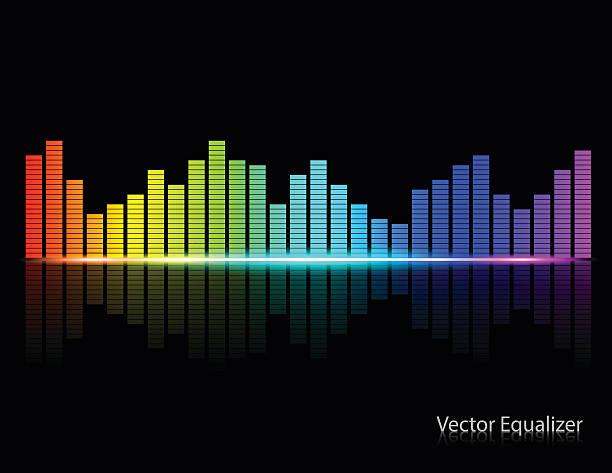 Color Music Equalizer,Vector illustration. Color Music Equalizer,Vector illustration. sound mixer stock illustrations