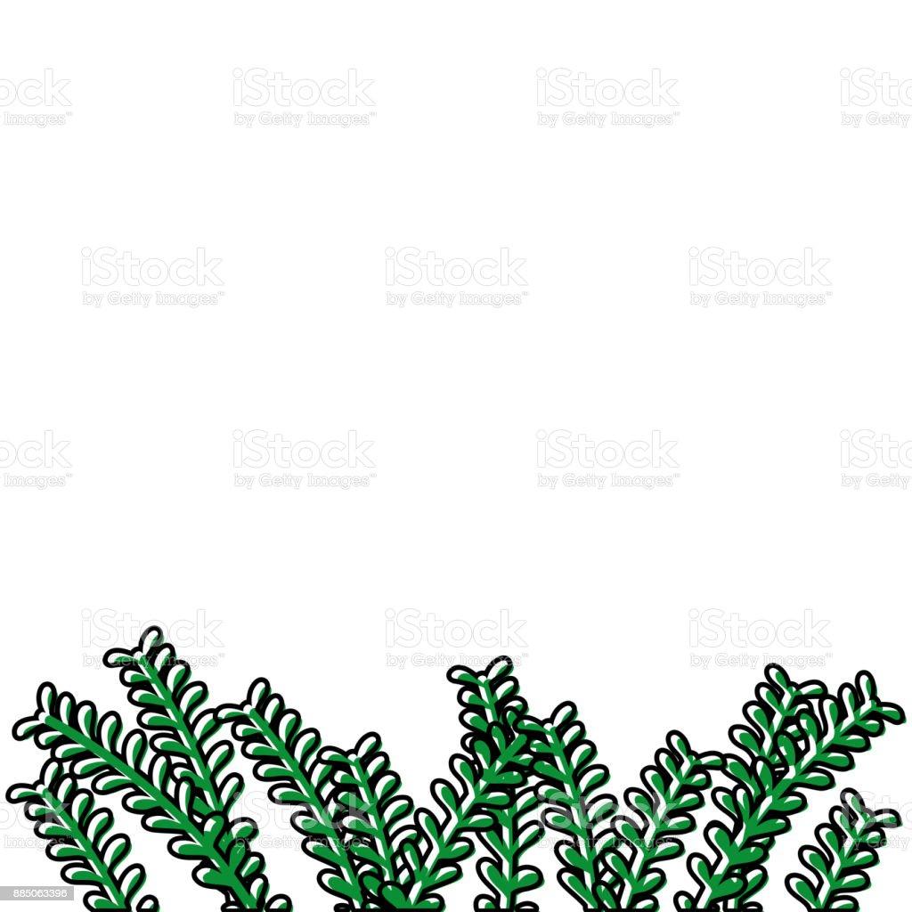 Ilustración de Ramas Naturales Rústicos Con Diseño De Hojas De Color ...