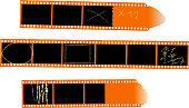 color negative film stripes, empty photo frames