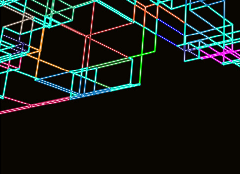color neon line technology background