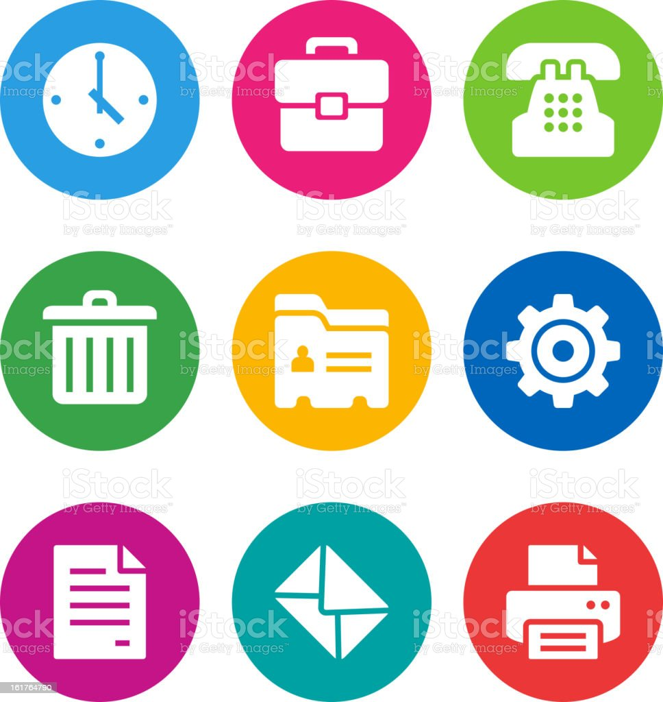 color office icons royalty-free color office icons stock vector art & more images of address book