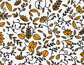 color ornate plant pattern background