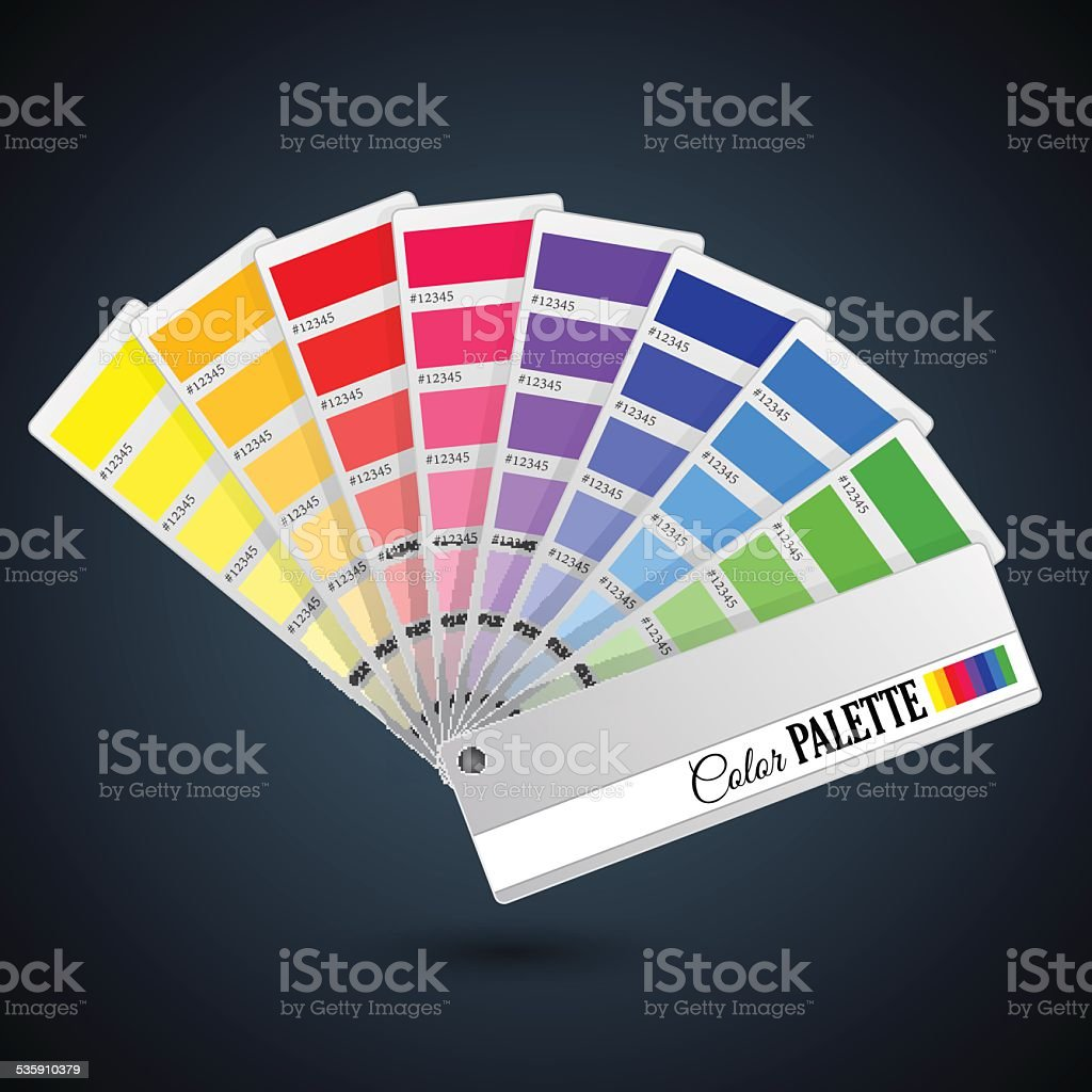 Color palette guide. Catalogue cards vector art illustration
