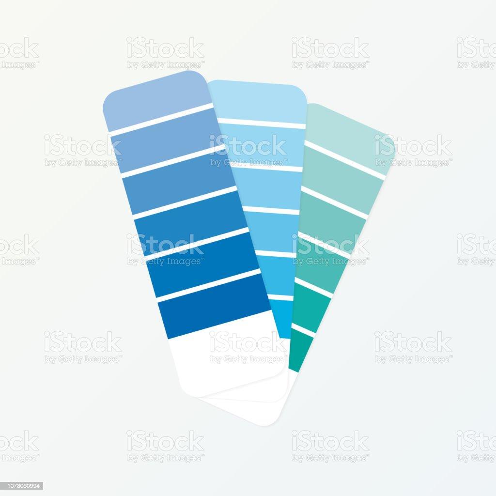 Guide De Palette De Couleur Sur Fond Gris Illustration Vectorielle