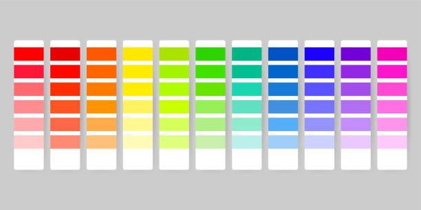illustrazioni stock, clip art, cartoni animati e icone di tendenza di color palette guide on transparent background - raccogliere frutta