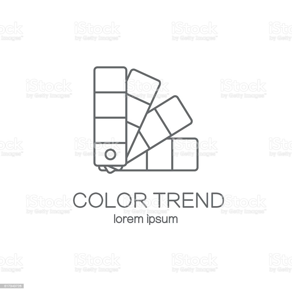 Color palette logotype design templates. vector art illustration