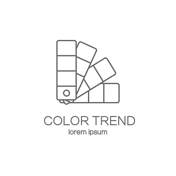 color palette logotype design templates. - color image stock illustrations