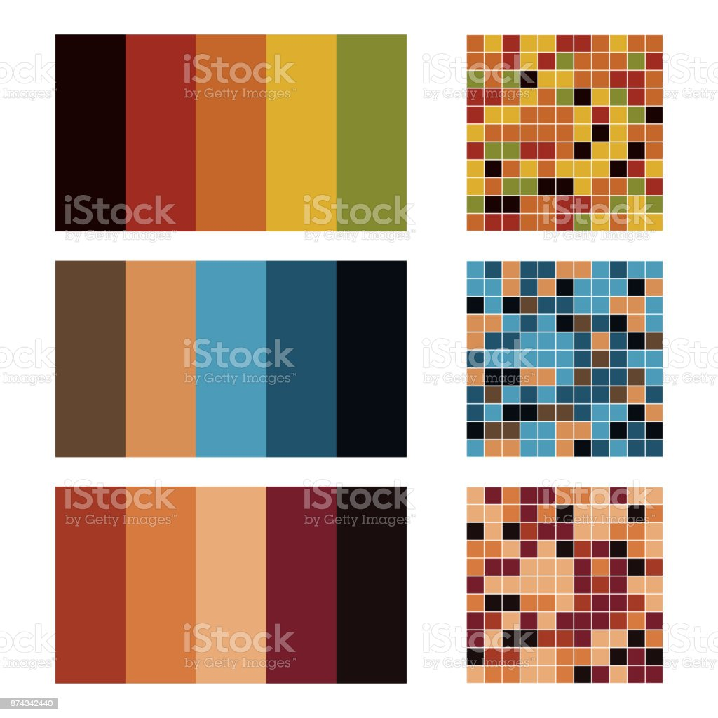 Color Palette Set Background Harmony Color Combos Spectrum