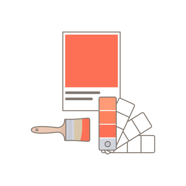 ilustrações, clipart, desenhos animados e ícones de modelo do vetor do projeto do guia do swatch da paleta de cor. - amostra de cor
