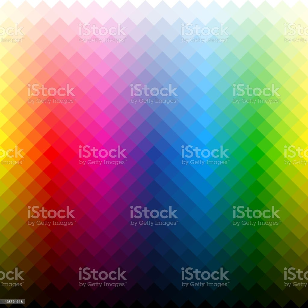 Color palette vector art illustration