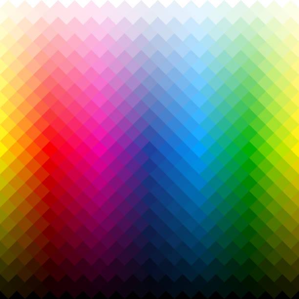 illustrazioni stock, clip art, cartoni animati e icone di tendenza di tavolozza di colori - cmyk