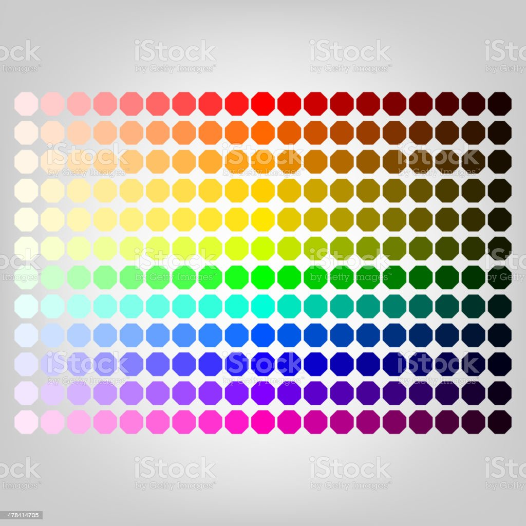 Color palette with shade of colors vector art illustration