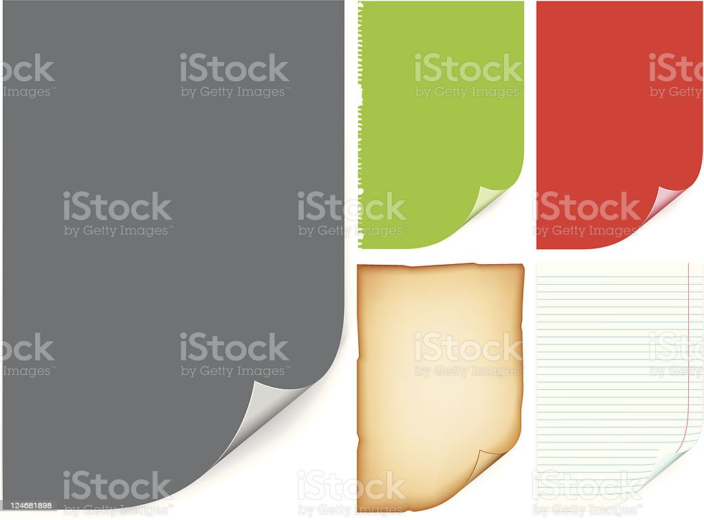Color paper sheets royalty-free stock vector art