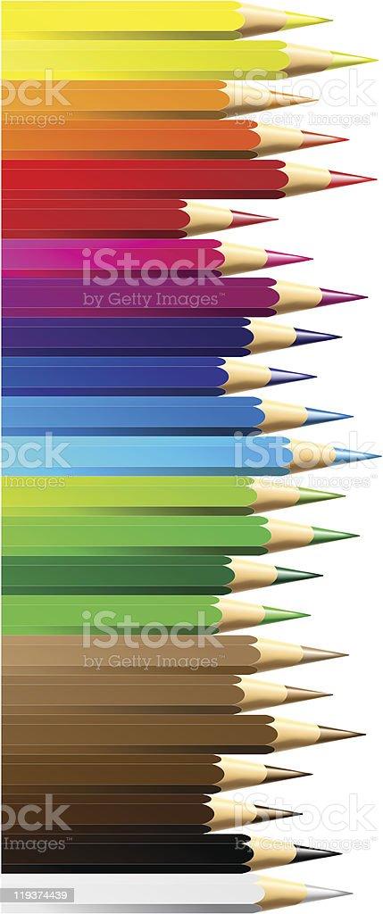 color pencils or crayon royalty-free stock vector art
