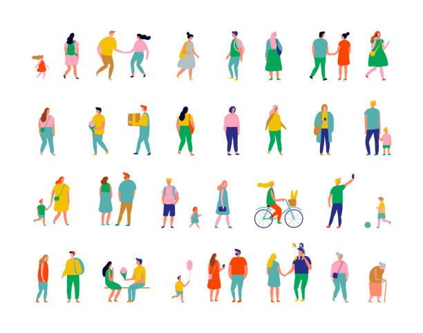 bildbanksillustrationer, clip art samt tecknat material och ikoner med färg människor - parent talking to child