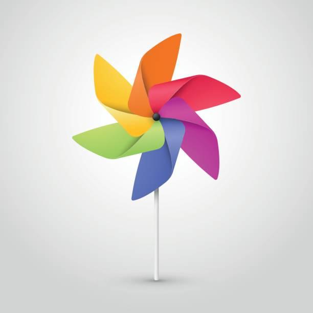 color pinwheel vector art illustration