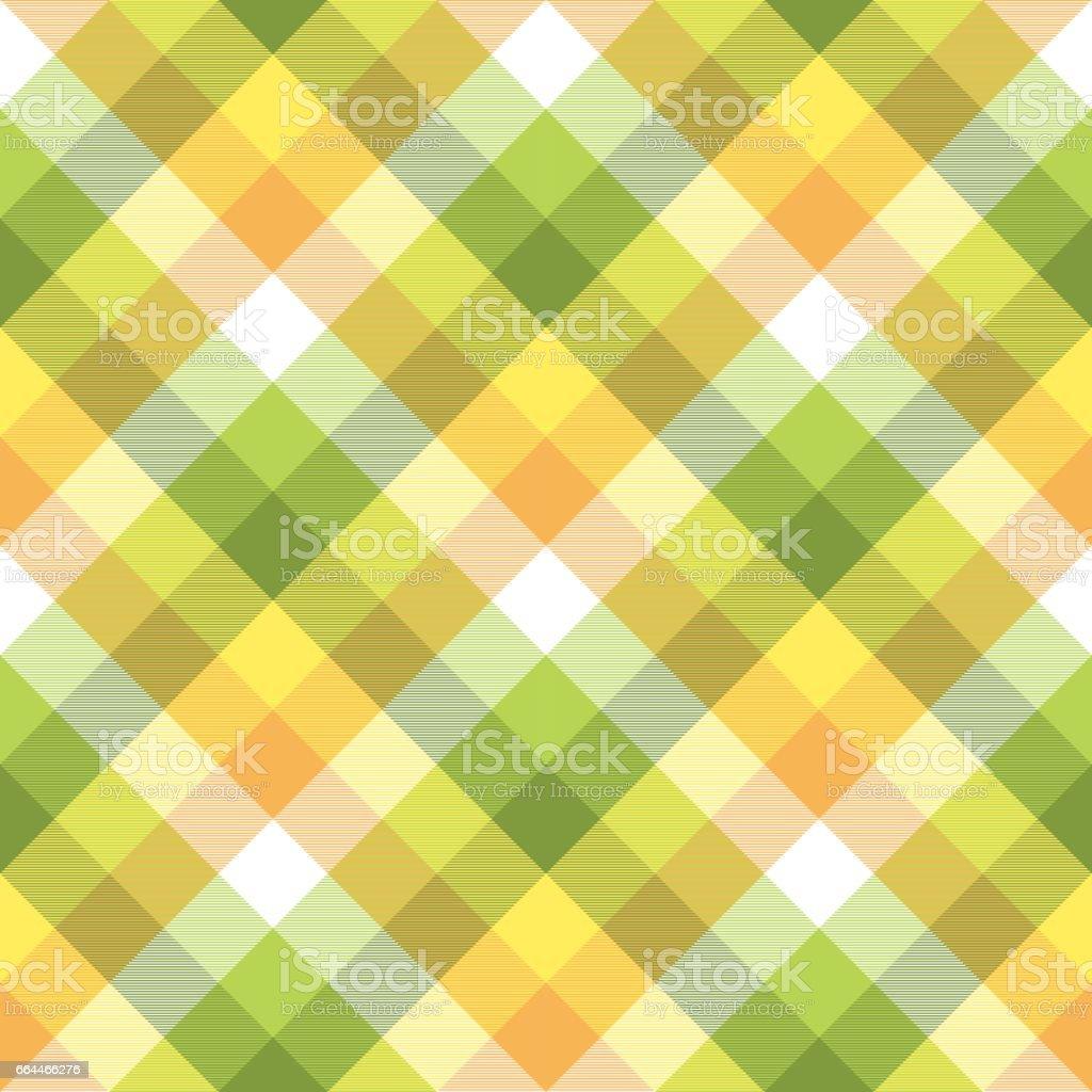 Color plaid tablecloths seamless fabric texture vector art illustration