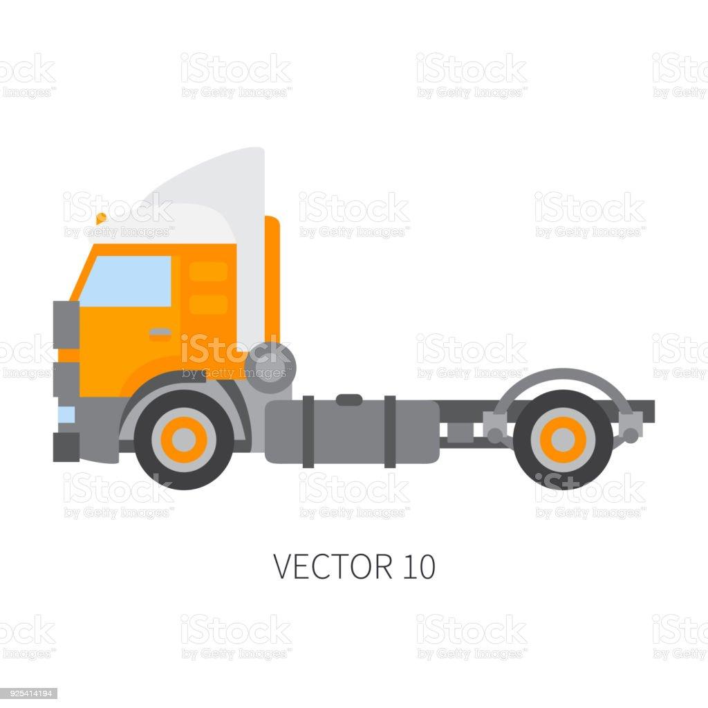 Color Llano Vector Icono Construcción Maquinaria Camión Contenedor ...