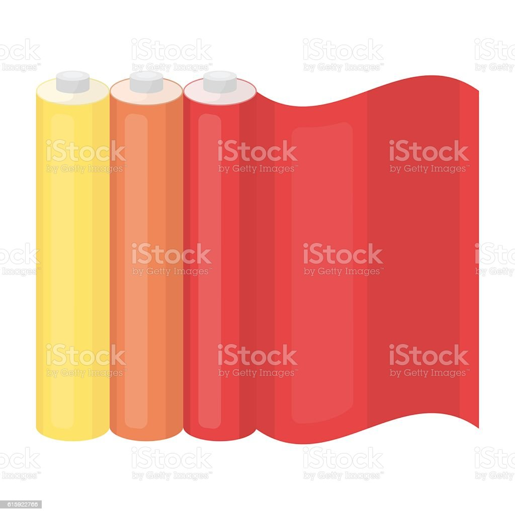 Color printing paper in cartoon style isolated on white background. vector art illustration