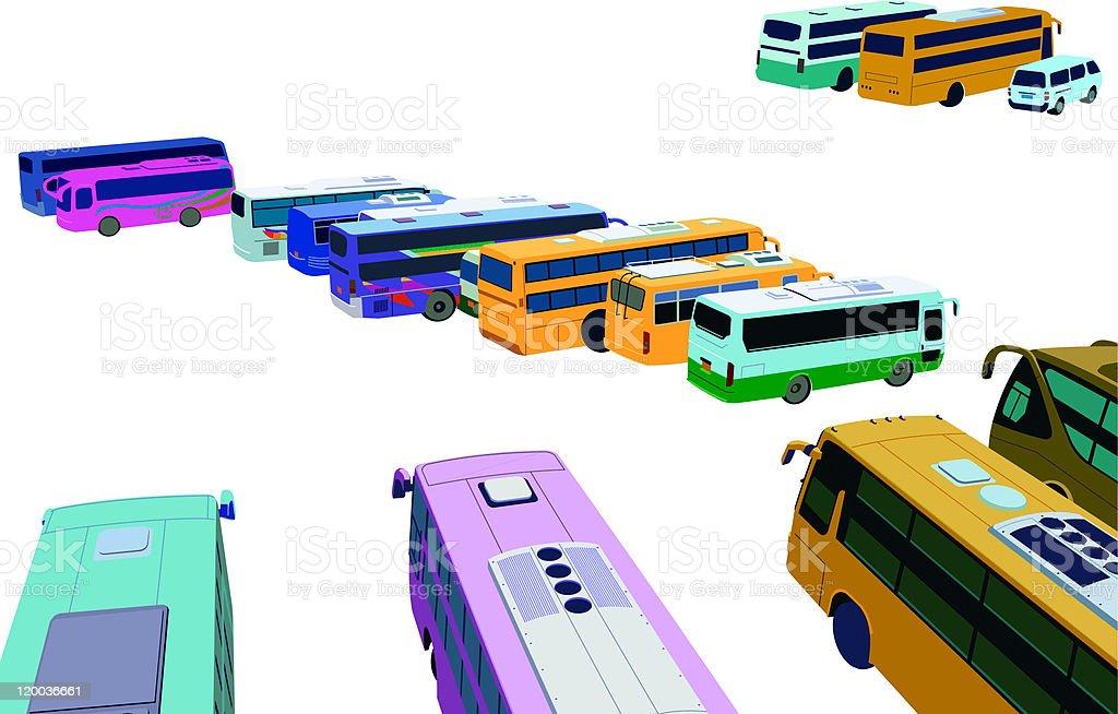 color public bus royalty-free stock vector art