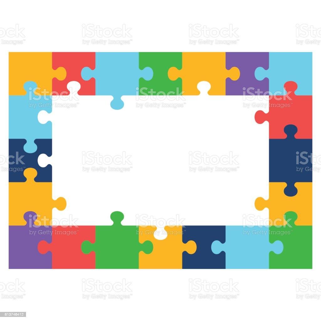 Ilustración de Marco De Color Puzzle y más banco de imágenes de ...