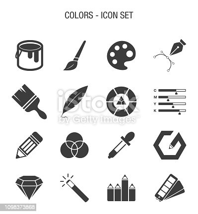 Vector of Color related Icon Set