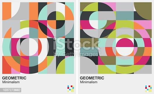 color round pattern geometric minimalism background