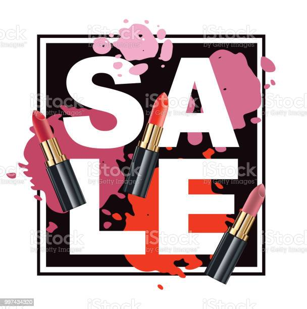 Color sale banner with lipstick vector id997434320?b=1&k=6&m=997434320&s=612x612&h= qlbcbqkri5zaua5adomk63vpglwwkq3zhiub3cca q=