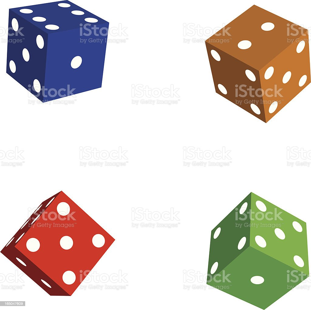 color dice royalty-free stock vector art