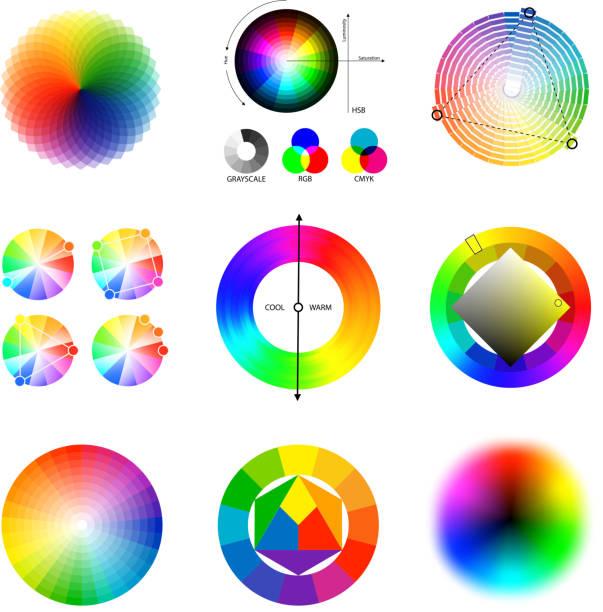 illustrazioni stock, clip art, cartoni animati e icone di tendenza di set di tavolozze della combinazione di colori - huế