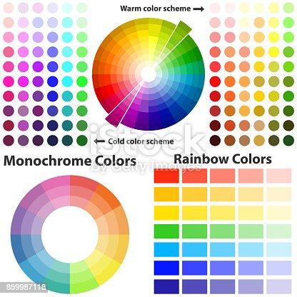 color scheme warme und kalte farben stock vektor art und mehr bilder von abstrakt 859987118 istock. Black Bedroom Furniture Sets. Home Design Ideas