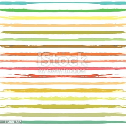 Color seamless pattern from long textured smears on a white background