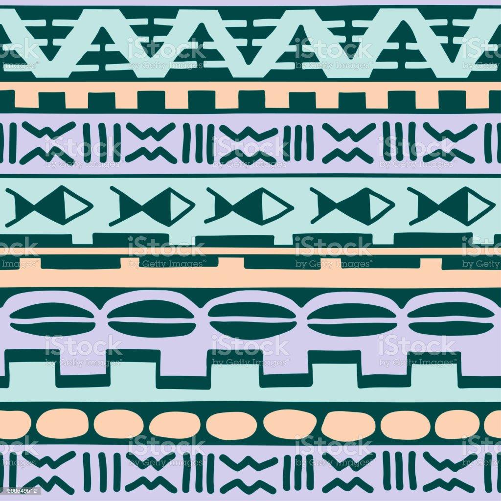 Le Style Ethnique motif sans couture de couleur dans le style ethnique thème africain