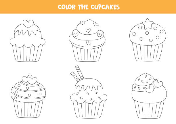 640 x 905 3 - cute cupcake coloring pages PNG image with ... | 433x612