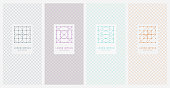 color simplicity geometric icon with grid texture cover collection