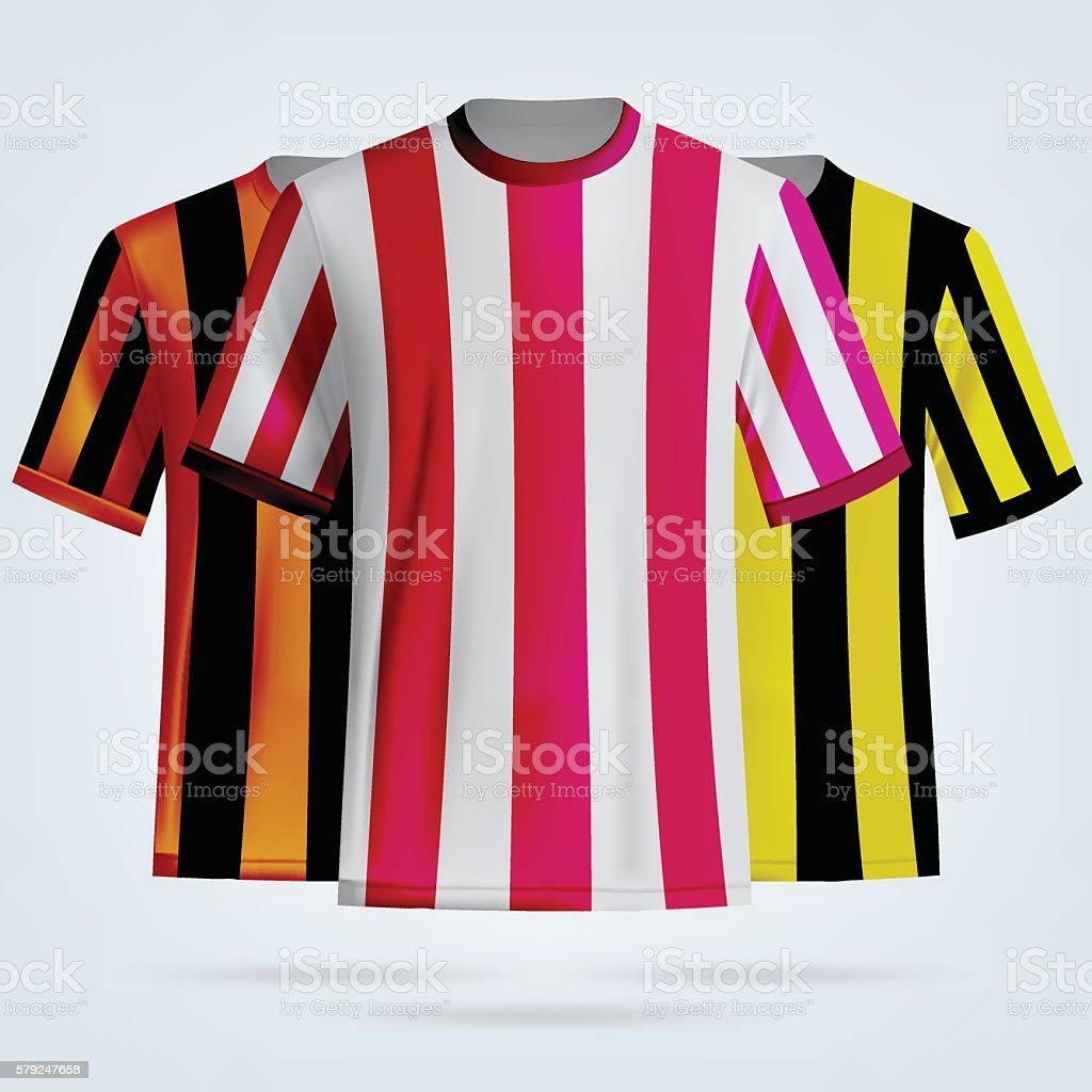 Color Soccer Tshirts Template Stock Vector Art & More Images of ...