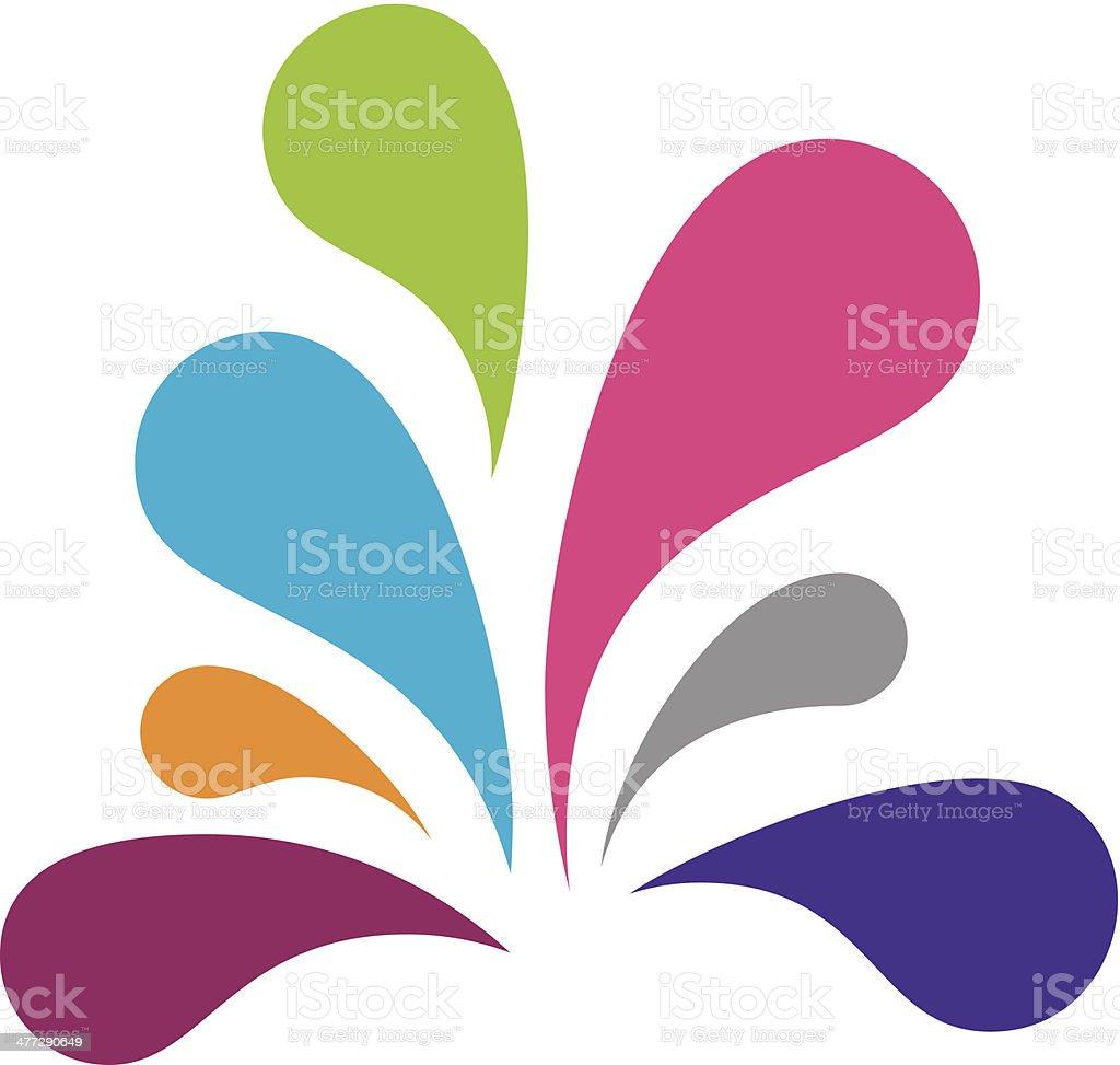 Color social splash logo vector illustration