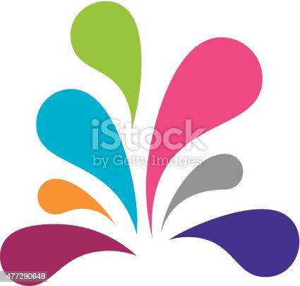 istock Color social splash logo vector illustration 477290649