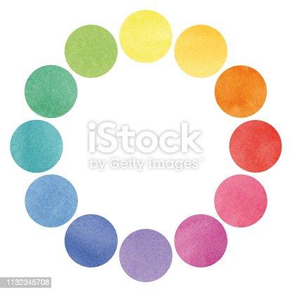 istock Color spectrum circles illustration 1132345708
