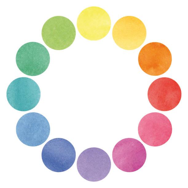 Color spectrum circles illustration vector art illustration