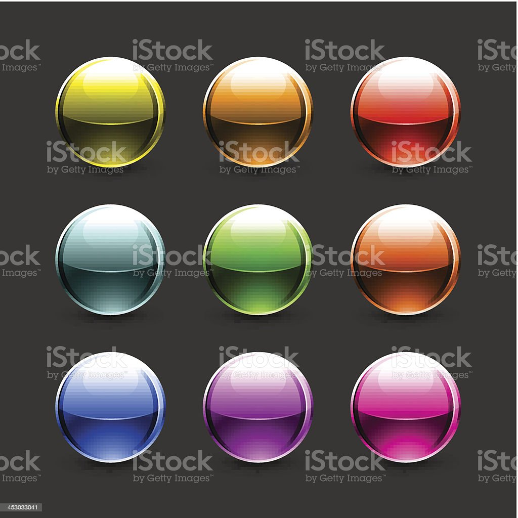 Color sphere glossy ball chrome icon empty button royalty-free color sphere glossy ball chrome icon empty button stock vector art & more images of application form