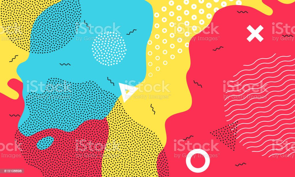 Color splash flat pattern background art vector wallpaper