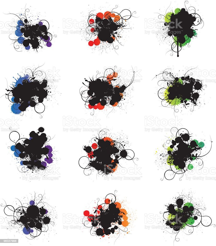 Color Splatters royalty-free color splatters stock vector art & more images of abstract