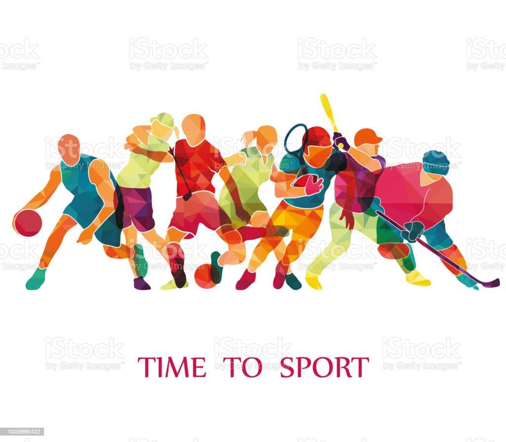 Color Sport Background Football Basketball Hockey Box Golf