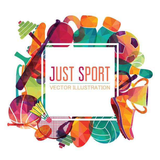 sport-hintergrundfarbe. fußball, basketball, eishockey, box, golf, tennis. vektor-illustration - sport stock-grafiken, -clipart, -cartoons und -symbole