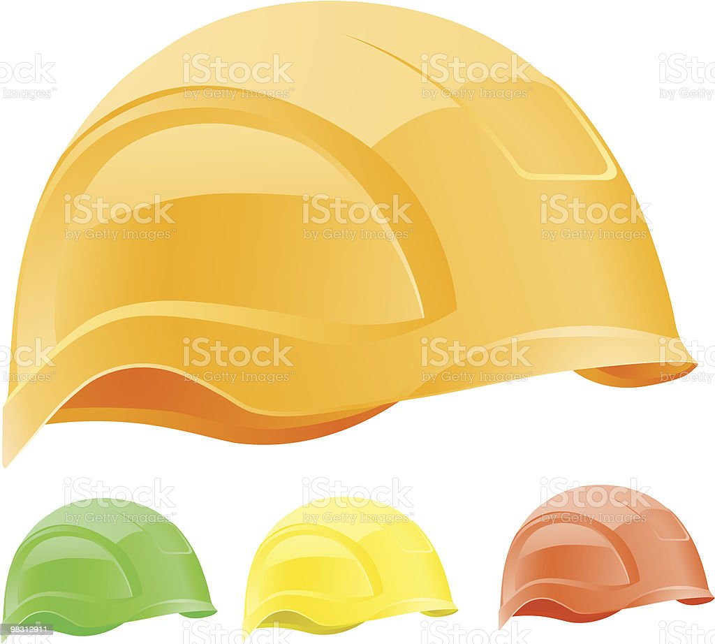 Color sport hardhat royalty-free color sport hardhat stock vector art & more images of color image