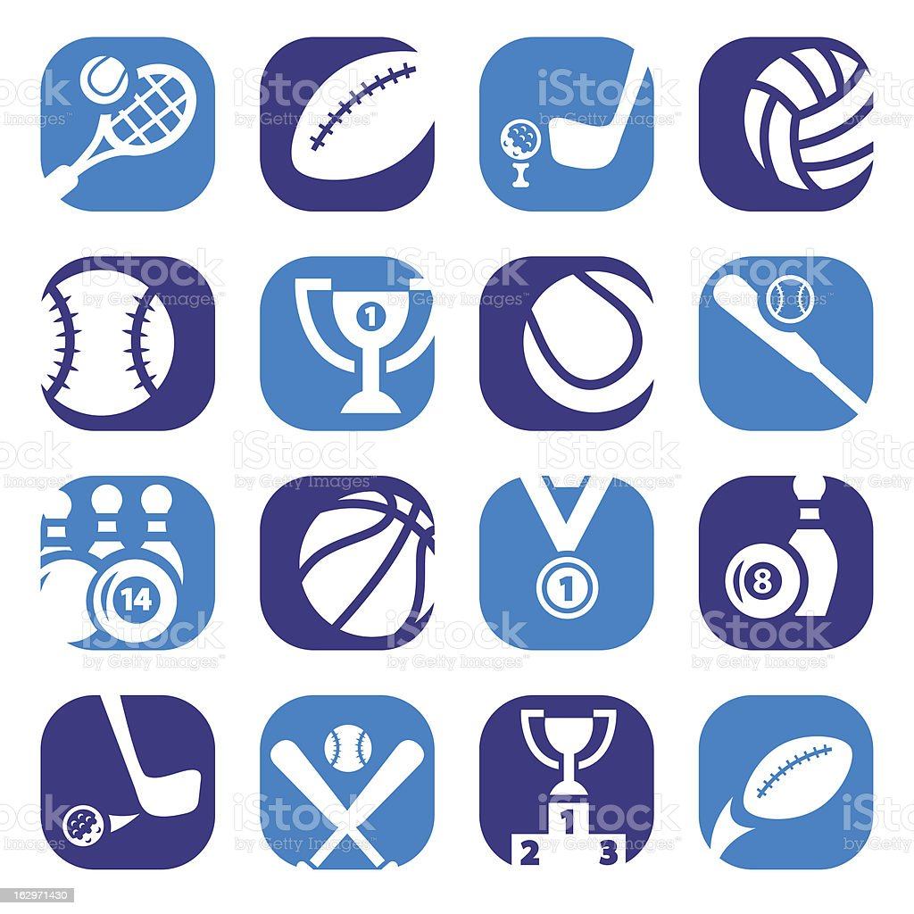 color sports icons royalty-free stock vector art