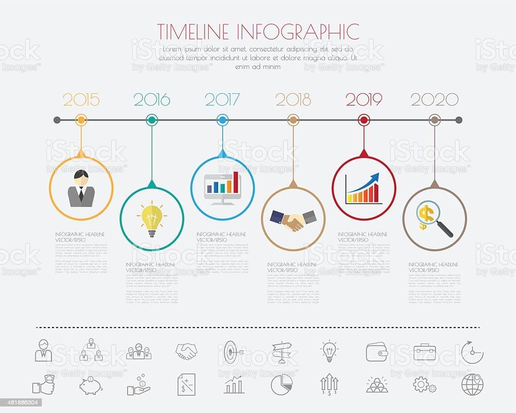Farbe Schritt Design Mit Farbe Icon Vorlagegrafik Oder Zeitleiste ...
