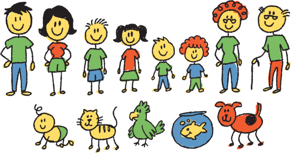 color stick figure family